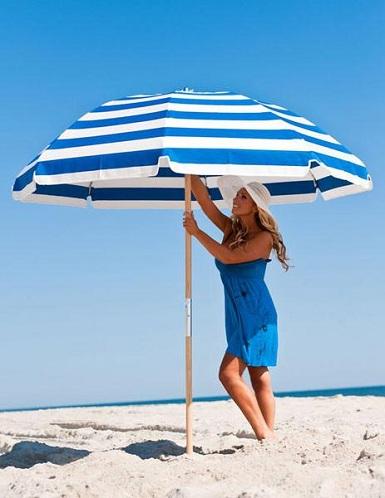 Strong Wood Poles Beach Umbrella