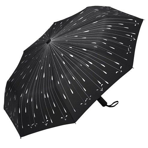 Stunning Raindrops Printed Fancy Umbrellas