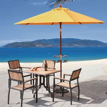 Sun Protected Nylon Table Umbrellas
