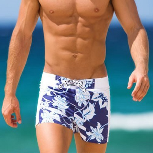 Surf Board Patchwork Men's Swimsuit