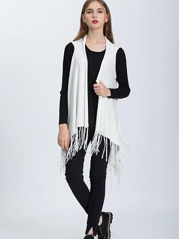 Tassels Sleeveless Sweater
