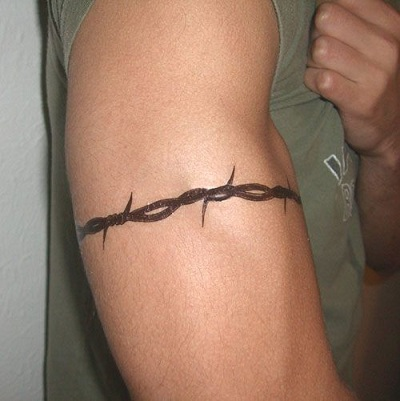 Barbed Wire Armband Tattoos