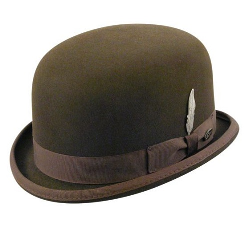 Taupe Brown Derby Women's Hats