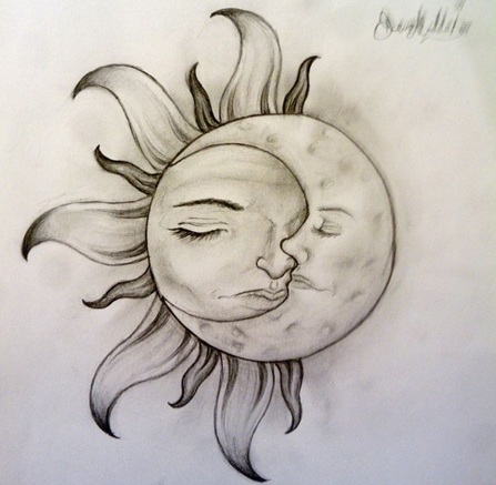 Moon Tattoo Art