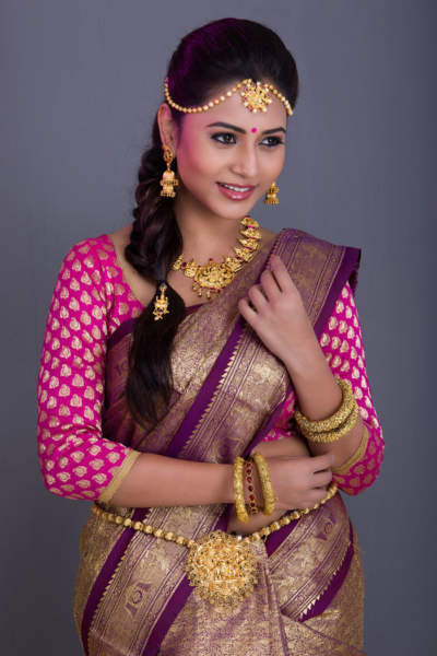 The South Indian Traditional Bridal Hairstyle For Reception