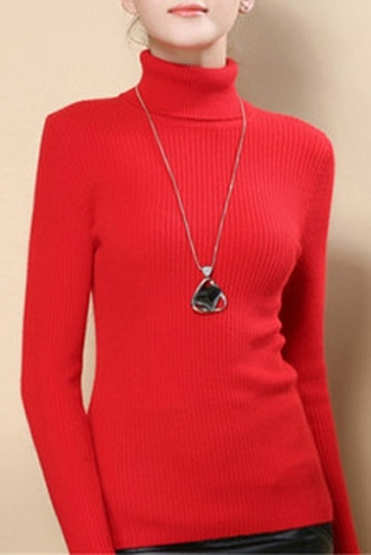 Thin Ribbed Women's Sweater