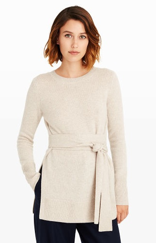 Tie up Cashmere Sweater