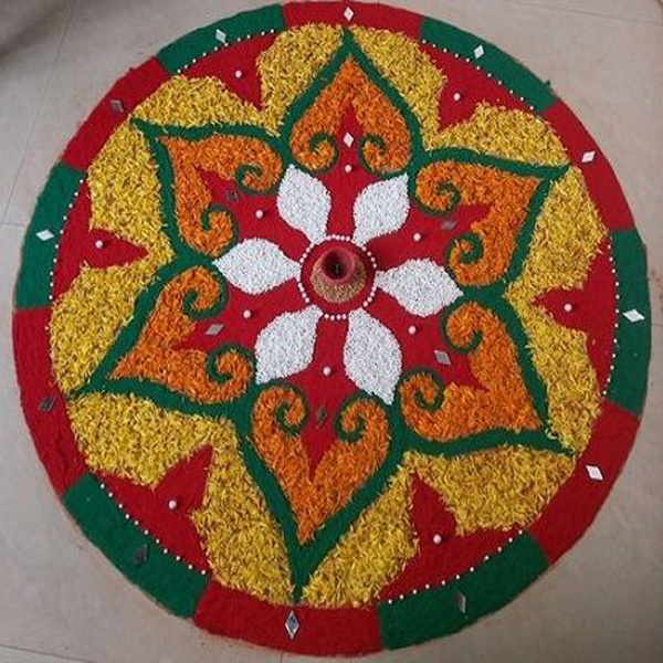 Rice Rangoli Designs