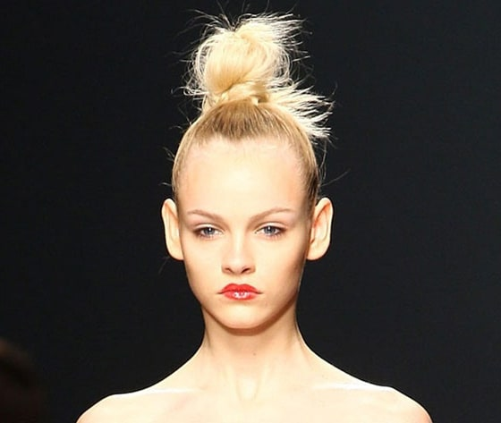 Top Knot Blonde Hairstyles