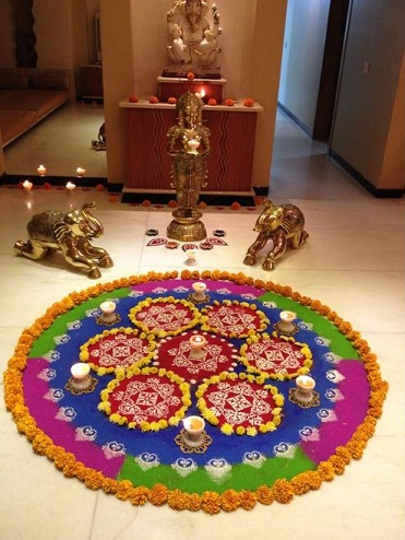 Tough But Cute Rangoli Design