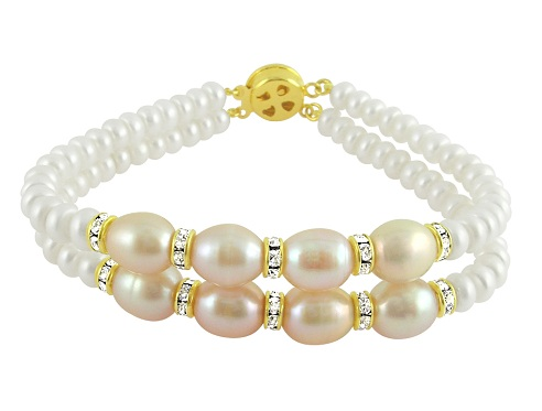 Two String Pearl Gold Bracelet