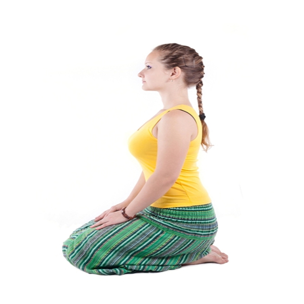 Vajrasana Yoga Diamond Pose