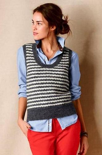 Vest Style Women's Sweater
