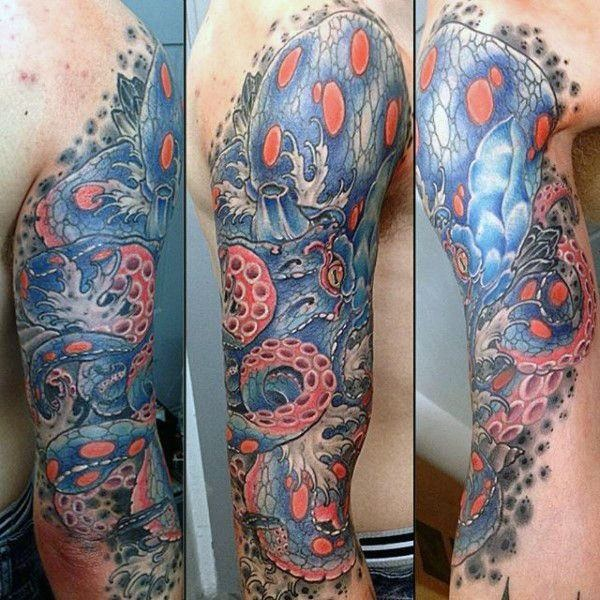 Vibrant Octopus Tattoo Designs