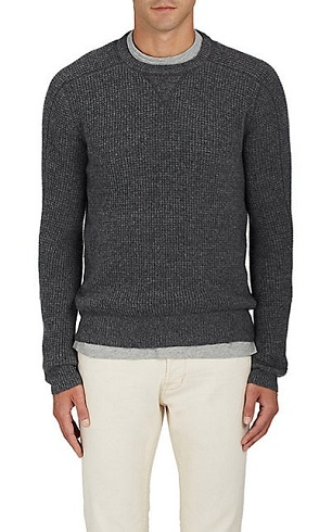 Waffle Knit Cashmere Sweater