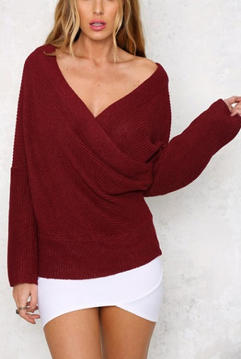 Wrapped off The Shoulder Sweater