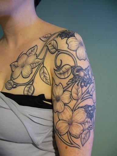 Flower And Vine Tattoos