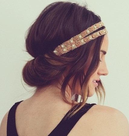 Messy Headband Look