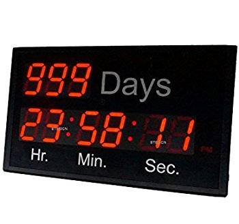 3'' 9Digits Large LED Countdown Clocks