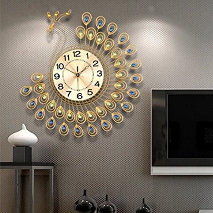 3D Peacock Wall Clock
