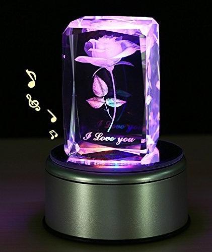 3D Rose Flower LED Gift