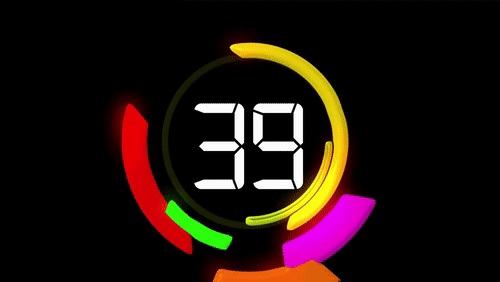 60 Seconds Animated Countdown Clock