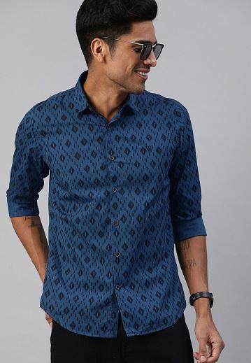 Allen Solly Regular Fit Printed Shirt