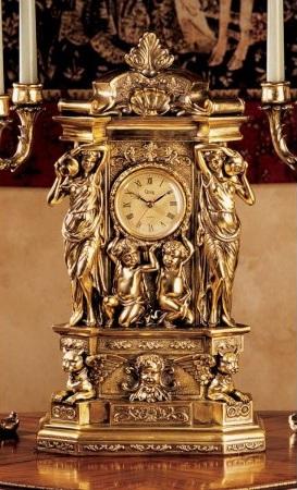 Antique Faux Gold Clock