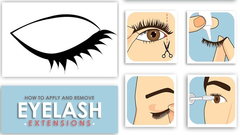 Apply and Remove Eyelash Extensions