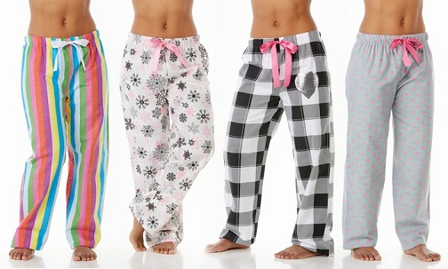 Assorted Prints Flannel Pajamas for Women