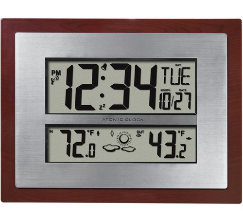 Atomic Clock with Temperature Display