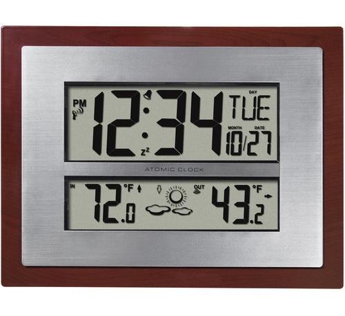 Atomic Clock with Temperature Display