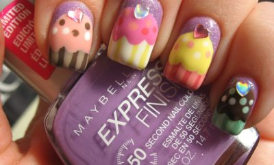 Beautiful Cupcake Nail Art Designs with Pictures