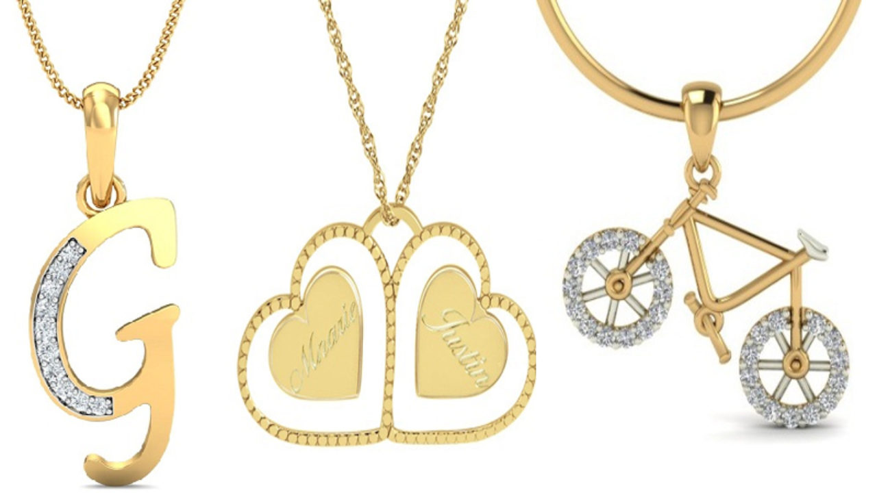 16 Beautiful Name Locket Designs For Men And Women Styles