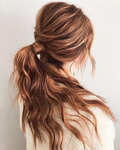 Beehive Ponytail for Long Hair