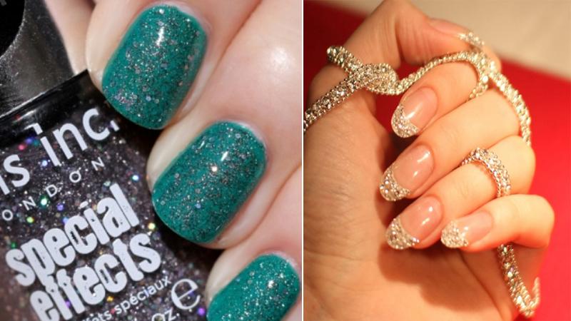 nail glitter designs styles