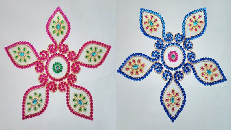 Best Kundan Rangoli Designs