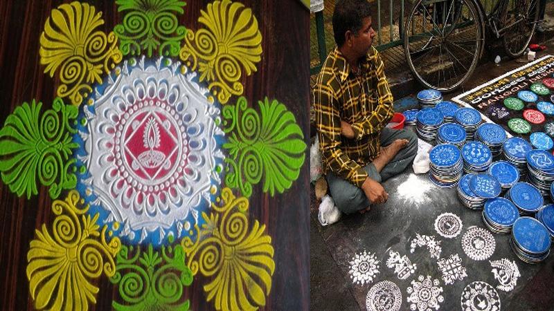 Stencil Rangoli Designs