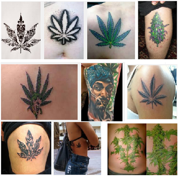 weed tattoos
