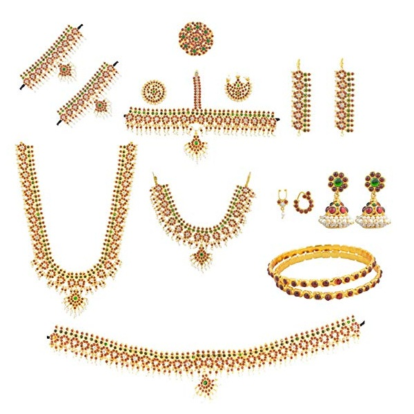 Bharatanatyam Temple Jewellery Designs
