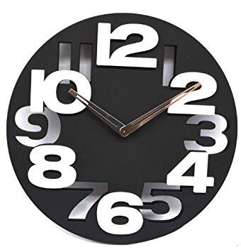 Big Digit Modern Contemporary Wall Clock
