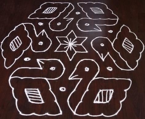 15 Dots Rangoli Designs
