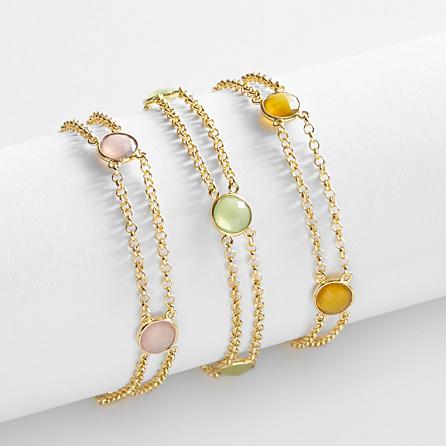 Birthstone Embedded Bracelets Birthday Gifts