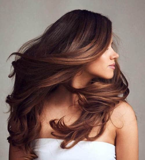 Wavy and Silky Black Hairstyles