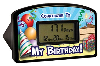 Black Birthday Countdown Clocks