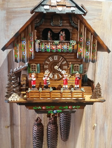 Black Forest Musicians and Dancers Cuckoo Clocks