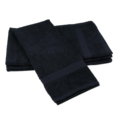 Black Hand Towels