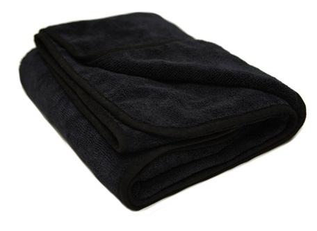 Black Microfiber Towel