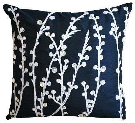 Blue Art Silk Pillows