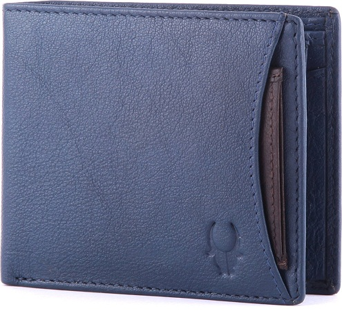 Blue Leather Men's Wallet Birthday Gifts